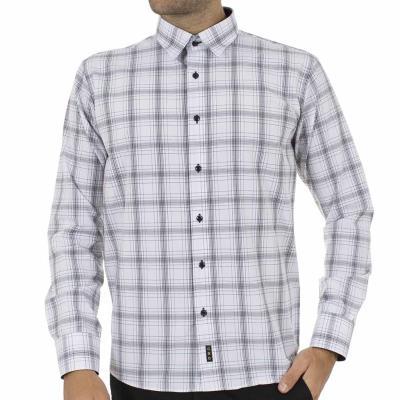 570cdcf4d5bf Ανδρικό Καρό Μακρυμάνικο Πουκάμισο CND Shirts 1400-9 Λευκό