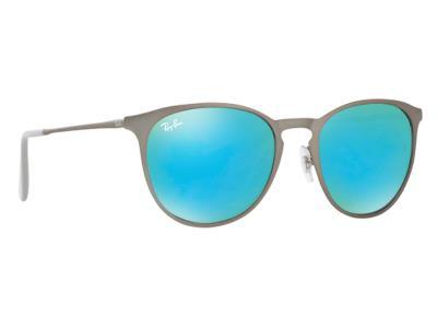 0ae43e8fb9 Γυαλιά ηλίου Ray-Ban Erika Metal RB 3539 9015 B4 Ματ Γκρι Πράσινος Μπλε  Καθρέφτη