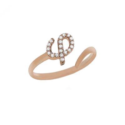 a24b7a3424 AMOR AMOR Δαχτυλίδι Chevalier Από Ασήμι 925 Ροζ Επιχρυσωμένο Με Μονόγραμμα  φ PS3