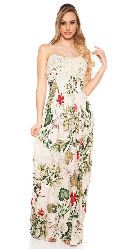 41847 FS Μοντέρνο μάξι φόρεμα φλοράλ - Πράσινο 55725dfd0ca