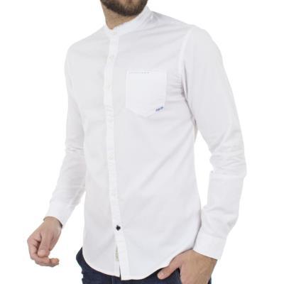 Ανδρικό Μάο Μακρυμάνικο Πουκάμισο Slim Fit Best Choice S185130-5 Λευκό 749823351be