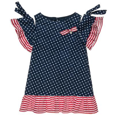 ff07a25919f Φόρεμα με βολάν και μοτίβο αστέρια (6-16 ετών) 00941632 ΜΠΛΕ ΣΚΟΥΡΟ