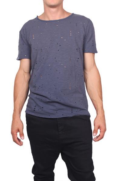Anerkjendt ανδρικό t-shirt με τρύπες Aiko midnight navy - 9516316 3eb3e18d462