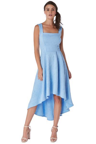 281e8b468f5e feminine high low laser print jersey φόρεμα σε sky μπλε