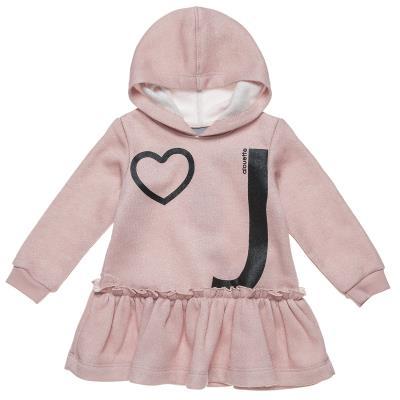 Φόρεμα με κουκούλα τύπωμα και βολάν (Κορίτσι 12 μηνών-4 ετών) 00241284 ΣΟΜΟΝ 8e4bf7a6ffc