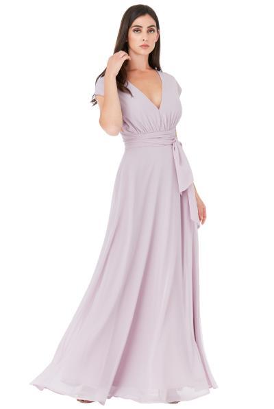fc278dbce978 multiway maxi αέρινο chiffon φόρεμα Iris λιλά