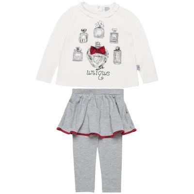 Σετ μπλούζα με φιογκάκι και φούστα-κολάν (Κορίτσι 2-5 ετών) 00270370 ΕΚΡΟΥ 2a744c5a040