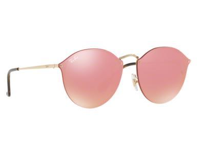 Γυαλιά ηλίου Ray-Ban Blaze Round RB 3574N 001 E4 Χρυσό Ροζ Καθρέφτης (001 E4  ) Π d6f4ba33062