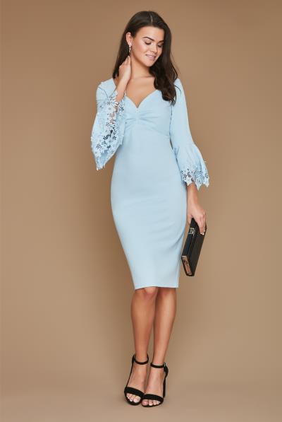 feminine φόρεμα Claire σε παστέλ blue 51df6ba1e5c