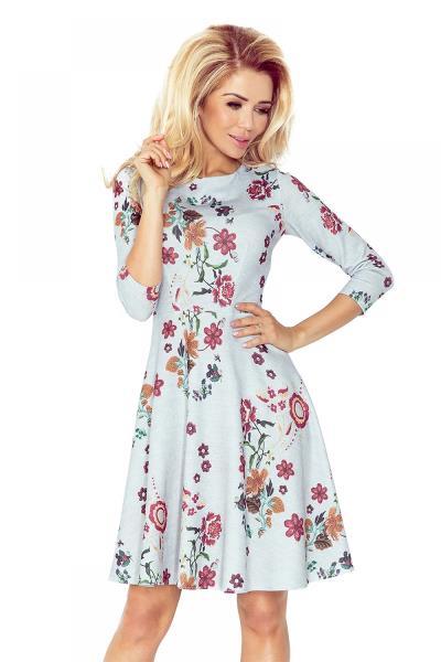 Φλοράλ κλος μίνι φόρεμα - Γκρι 52409862161