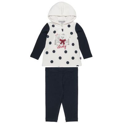 Σετ μπλούζα με πουά μοτίβο και κολάν (Κορίτσι 6-18 μηνών) 00470501 ΕΚΡΟΥ f2f32394357