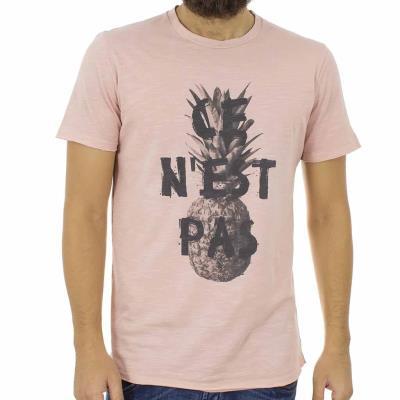 dd3096a51956 Ανδρικό Κοντομάνικη Μπλούζα T-shirt Best Choice S18088 TROPIC ανοιχτό Ροζ