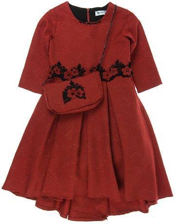 54412b2f50fb Seker παιδικό αμπιγιέ φόρεμα   τσαντάκι «Red Embroidery»