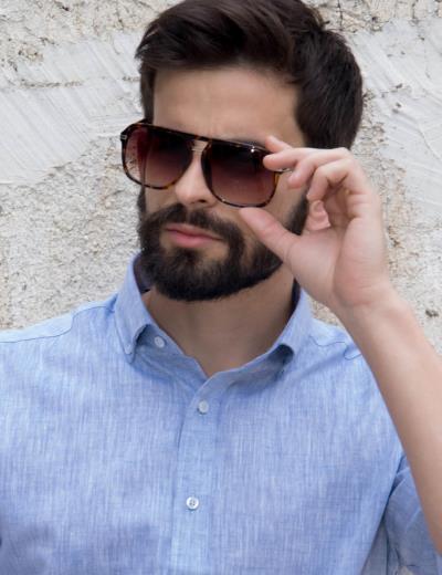 49340b6bdafd Ανδρικά γυαλιά ηλίου φακός ταρταρούγα καφέ Luxury S5009Q