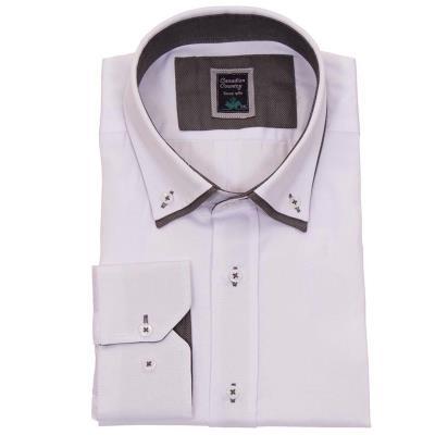 800d5c700187 Ανδρικό Μακρυμάνικο Πουκάμισο Regular Fit Canadian Shirts 1400-5 Λευκό