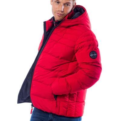 edf6b5120d36 Ανδρικό Φουσκωτό Μπουφάν Puffer Jacket HEAVY TOOLS NEON Κόκκινο