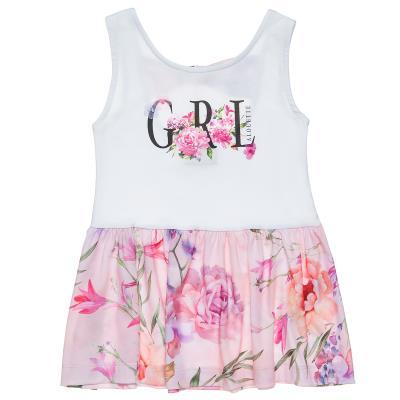 Φόρεμα με φλοράλ τύπωμα (18 μηνών-5 ετών) 00241349 ΛΕΥΚΟ 43a3a95ec95