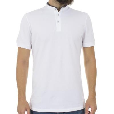 604993fe556c Ανδρικό Κοντομάνικο Μπλούζακι με Γιακά Μάο Best Choice TOMMY S18095 Λευκό