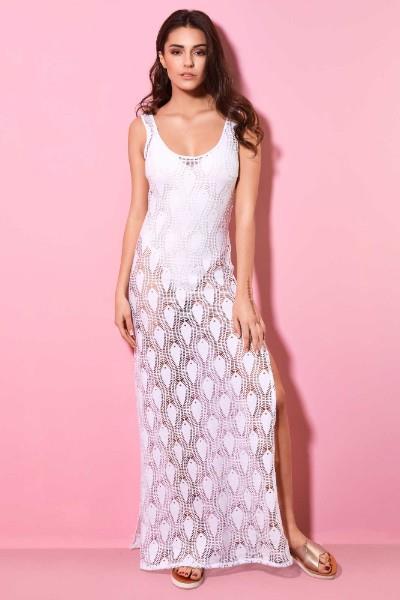 e3f2a45cf6fd Φόρεμα Θαλάσσης Μακρύ Δαντέλα Milena - Large