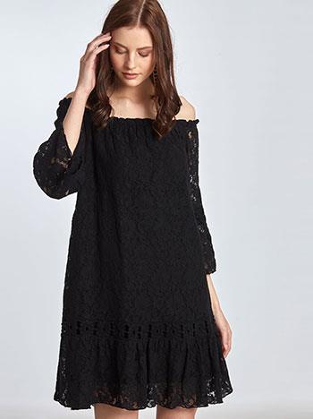 bc902bbb1dc8 Φόρεμα με δαντέλα και κέντημα SE7815.8000+2