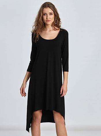 7769b9ccd36 φόρεμα μιντι μαυρο ασυμμετρο - Totos.gr