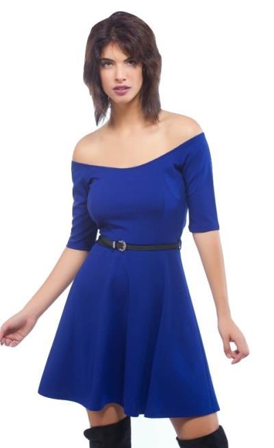 39860af4ad1d Κοντό Φόρεμα σε Α γραμμή με Χαμόγελο Ρουά Freestyle