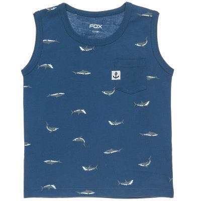 491cc39300 Μπλούζα αμάνικη με μοτίβο καρχαρίες (1-3 ετών) 00251232 ΜΠΛΕ