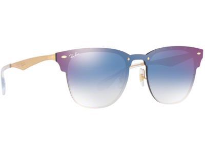 Γυαλιά ηλίου Ray-Ban Blaze Clubmaster RB 3576N 043 X0 Χρυσό Μπλε Ντεγκραντέ  Καθρ 24b43480599