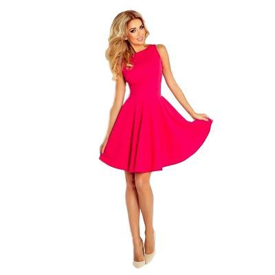 4715bc5a4f56 70065 NU Κομψό μίνι φόρεμα με πιέτες - φούξια