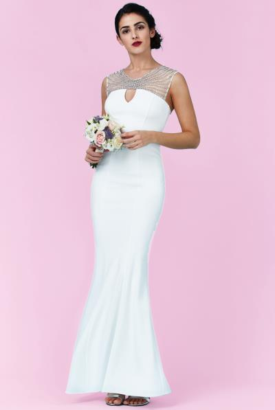 bridal strass rays φόρεμα mermaid 9ad57038347
