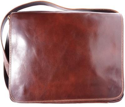 93d14b43e99 Τσάντα Ταχυδρόμου Δερματινη Firenze Leather 6555 Καφε
