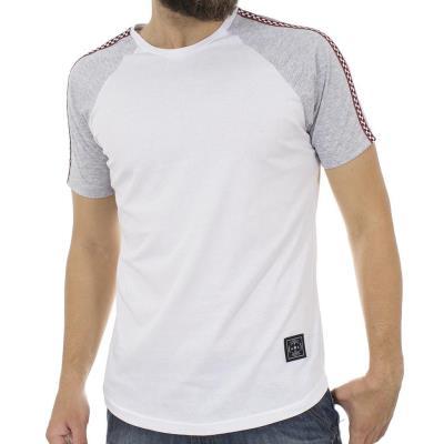 6727c355d843 Ανδρικό Κοντομάνικη Μπλούζα T-Shirt FREE WAVE 81131 Λευκό
