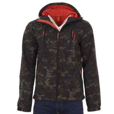 Ανδρικό Μπουφάν Jacket SPLENDID 38-201-075 Χακί παραλλαγής de270ba7860