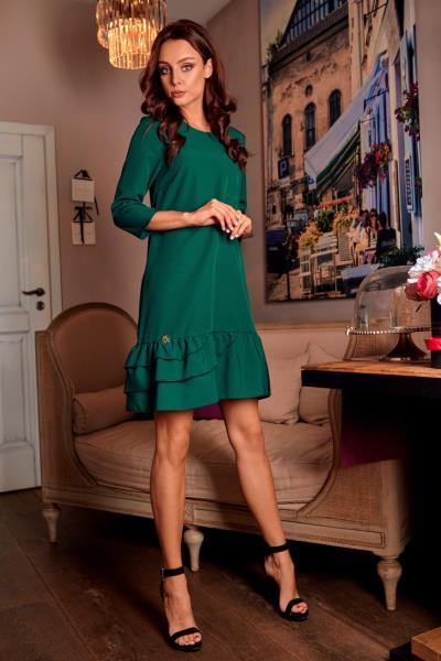 Φόρεμα με μανίκι και βολάν στο τελείωμα - Πράσινο. Άμεσα διαθέσιμο.  fashioneshop.gr ... 5db0f4a9ac8