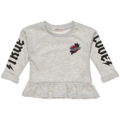 Μπλούζα μελανζέ με βολάν και patch (Κορίτσι 12 μηνών-3 ετών) 00221311 ΓΚΡΙ  ΜΕΛΑΝ d602bed8925