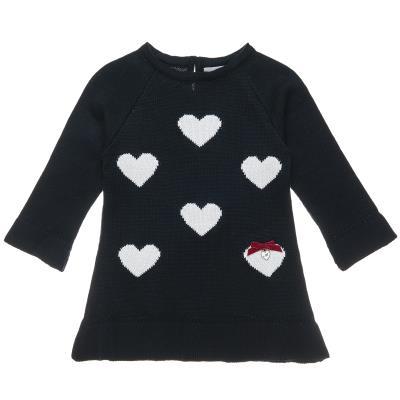 ae1b9201263 Φόρεμα πλεκτό με καρδιές (Κορίτσι 2-5 ετών) 00241237 ΜΠΛΕ