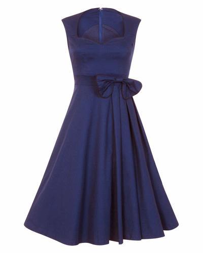 a6810eced02d vintage 50s chic φόρεμα Grazia midnight blue