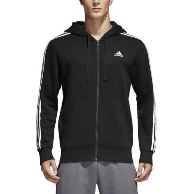 6ee309b1ce3f adidas Performance Essentials 3-Stripes Fleece Hoodie B47368 - BLACK/WHITE