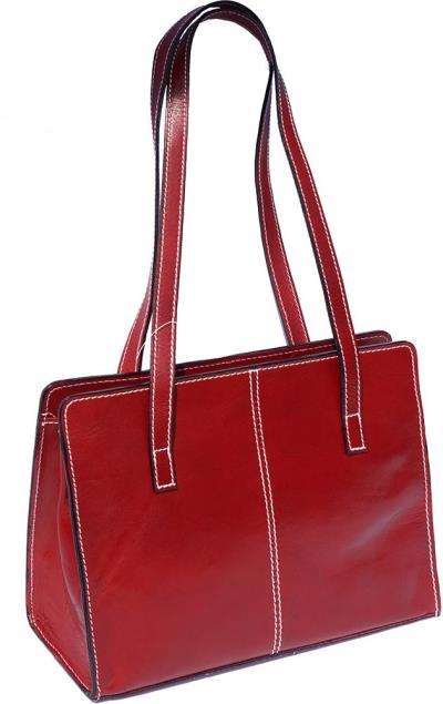 9c4eb9cbc0 Δερμάτινη Τσάντα Ωμου Firenze Leather 6510 Κόκκινο