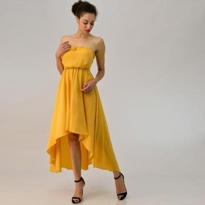a4ee28838fc9 φόρεμα κιτρινο στραπλεσ - Totos.gr