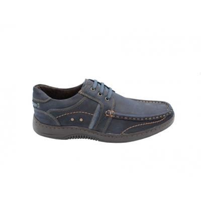 b Casual δερμάτινα  b  δετά  b ανδρικά παπούτσια  b  Smart Steps 6987  μπλε. 698 d16b76fb7ba