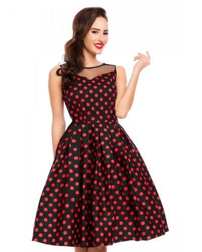 89adb0862445 50s vintage pin up πουά φόρεμα Eliz