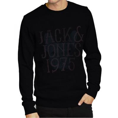 JACK   JONES φούτερ ανδρικό - μαύρο 12078725 5855f2ac146