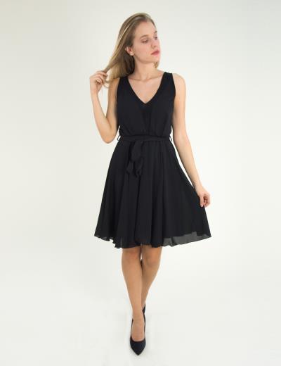 d5735e1fde3b Γυναικείο μαύρο αμάνικο φόρεμα κλος τούλι 8317229