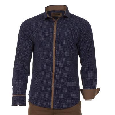 0e7545588004 Ανδρικό Μακρυμάνικο Πουκάμισο Slim Fit CND Shirts 1500-5 Navy