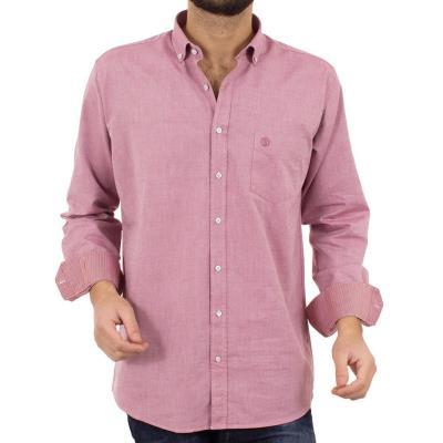 e041c22906e6 Ανδρικό Μακρυμάνικο Πουκάμισο Regular Fit SANTANA SW17-6-16 Ροζ