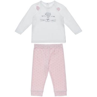 48f39f81e56 Σετ Tender Comforts μπλούζα με κέντημα και πουά παντελόνι (Κορίτσι 3  μηνών-2 ετώ