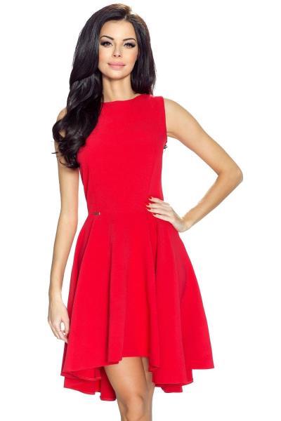 Κλος ασύμμετρο μίνι φόρεμα - Κόκκινο c242ea9fb1c
