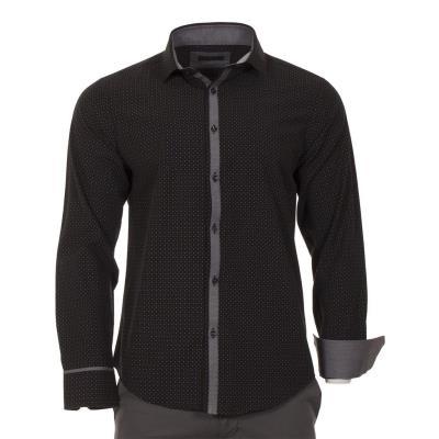 Ανδρικό Μακρυμάνικο Πουκάμισο Slim Fit CND Shirts 1500-4 Μαύρο 55462c7106e