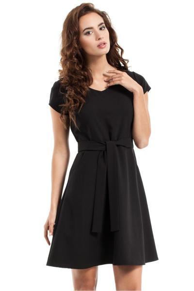 a0e28a15e0b1 Κοντομάνικο κλος μίνι φόρεμα - Μαύρο